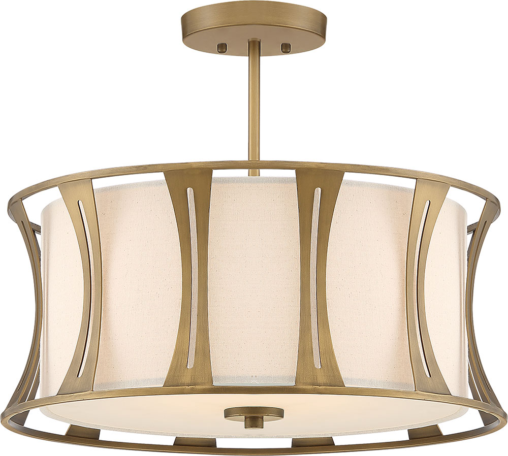 Woodmere Egyptian Gold Flush Mount
