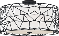 Quoizel QSF5274MBK Contemporary Matte Black Ceiling Light