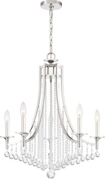 Quoizel QSP5005PK Queenship Polished Nickel Mini Ceiling Chandelier