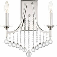 Quoizel QSP8702PK Queenship Polished Nickel Wall Light Sconce