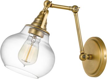 Quoizel QW4070WS Elmdale Modern Weathered Brass Wall Swing Arm Lamp