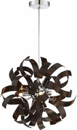 Quoizel RBN1512WT Ribbons Contemporary Western Bronze Xenon Drop Ceiling Light Fixture