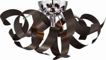 Ribbon Light Fixture : Quoizel rbn wt ribbons contemporary western bronze xenon flush