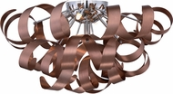Quoizel RBN1622SG Ribbons Modern Satin Copper Xenon Overhead Lighting Fixture