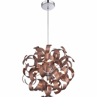 Quoizel RBN2817SG Ribbons Modern Satin Copper Finish 17  Tall Pendant Lighting Fixture