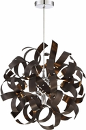 Quoizel RBN2817WT Ribbons Modern Western Bronze Xenon Pendant Light