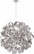 Quoizel RBN2831C Ribbons Modern Polished Chrome Xenon Ceiling Light Pendant