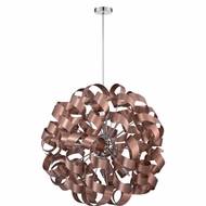 Quoizel RBN2831SG Ribbons Contemporary Satin Copper Finish 31 Wide Pendant Hanging Light
