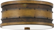 Quoizel RDE1613AWN Roadhouse Aged Walnut 13  Flush Lighting