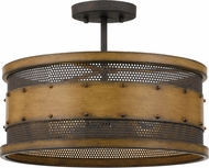 Quoizel RDE1716AWN Roadhouse Aged Walnut 16  Overhead Lighting