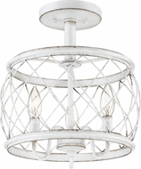 Quoizel RDY1712AWH Dury Modern Antique White 12 Overhead Lighting Fixture