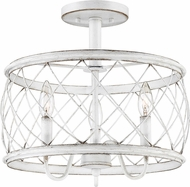 Quoizel RDY1714AWH Dury Contemporary Antique White 15 Ceiling Lighting