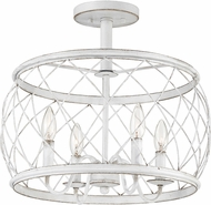 Quoizel RDY1717AWH Dury Modern Antique White 17  Ceiling Light