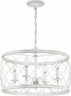 Quoizel RDY2821AWH Dury Contemporary Antique White 21  Ceiling Pendant Light
