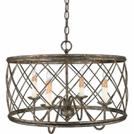 Quoizel RDY2821CS Dury Caged Medium 4 Candle Pendant Hanging Light