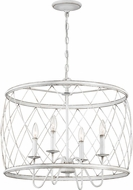 Quoizel RDY2823AWH Dury Modern Antique White 23  Drop Ceiling Light Fixture