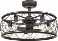 Quoizel RDY3122PN Dury Contemporary Palladian Bronze Flush Lighting