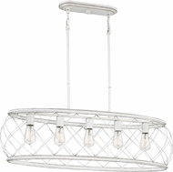 Quoizel RDY538AWH Dury Contemporary Antique White Island Light Fixture