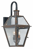 Quoizel RO8411AC Rue De Royal Large Outdoor Bottom-Mounted 2 Light Copper Sconce