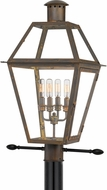 Quoizel RO9014IZ Rue De Royal Industrial Bronze Exterior Lighting Post Light