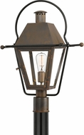 Quoizel RO9018IZ Rue De Royal Industrial Bronze Exterior Post Lighting Fixture