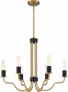 Quoizel SDE5006WS Stride Contemporary Weathered Brass 26  Hanging Chandelier