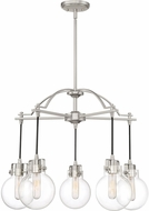 Quoizel SDL5005BN Sidwell Contemporary Brushed Nickel Chandelier Lamp