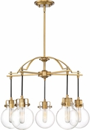 Quoizel SDL5005WS Sidwell Modern Weathered Brass Chandelier Light