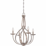 Quoizel SER5004IF Serenity Italian Fresco Finish 20  Wide Mini Hanging Chandelier