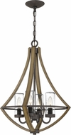 Quoizel SHR3518RK Shire Contemporary Rustic Black Foyer Lighting