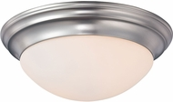 Quoizel SMT1612BN Summit Brushed Nickel 12  Overhead Lighting Fixture