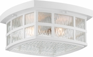 Quoizel SNN1612W Stonington Fresco Outdoor Flush Ceiling Light Fixture