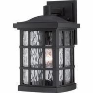 Quoizel SNN8408K Stonington Traditional Mystic Black Finish 13  Tall Outdoor Wall Mounted Lamp