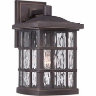 Quoizel SNN8408PN Stonington Traditional Palladian Bronze Finish 8  Wide Outdoor Sconce Lighting