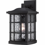 Quoizel SNN8409K Stonington Traditional Mystic Black Finish 9.5  Wide Exterior Wall Light Sconce