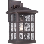 Quoizel SNN8409PN Stonington Traditional Palladian Bronze Finish 15.5  Tall Exterior Light Sconce