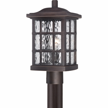 Quoizel SNN9009PN Stonington Traditional Palladian Bronze Finish 9.5  Wide Outdoor Post Light Fixture