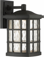 Quoizel SNNL8408K Stonington LED Mystic Black LED Exterior 8  Wall Light Fixture