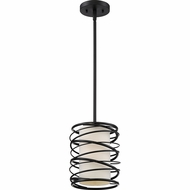 Quoizel SPL1508K Spiral Modern Mystic Black Mini Hanging Pendant Lighting