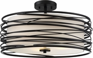 Quoizel SPL1720K Spiral Contemporary Mystic Black Ceiling Light Fixture