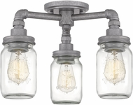 Quoizel SQR1716GV Squire Modern Galvanized Overhead Lighting