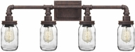 Quoizel SQR8604RK Squire Contemporary Rustic Black Bathroom Light Sconce