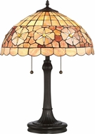 Quoizel SSSB6223VB Sea Shell Collection Sanibel Tiffany Vintage Bronze Table Top Lamp