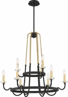 Quoizel TAN5031WT Tanner Western Bronze Ceiling Chandelier