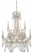 Quoizel TCA5009VP Tricia Two Tier Large 31 Inch Diameter Antique Crystal Chandelier Lighting