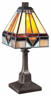 Quoizel TF1021TVB Holmes 6.5 Inch Diameter Tiffany Table Lamp
