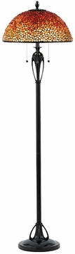 Quoizel TF135FBC Pomez Tiffany Style Floor Lamp in Burnt Cinnamon