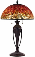 Quoizel TF135TBC Pomez Tiffany Table Lamp with Agate Stone Shade