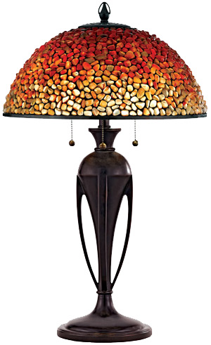 Quoizel TF135TBC Pomez Tiffany Table Lamp With Agate Stone Shade. Loading  Zoom