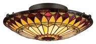 Quoizel TF1400SVB Tiffany Vintage Bronze 17 Inch Diameter Art Glass Ceiling Light